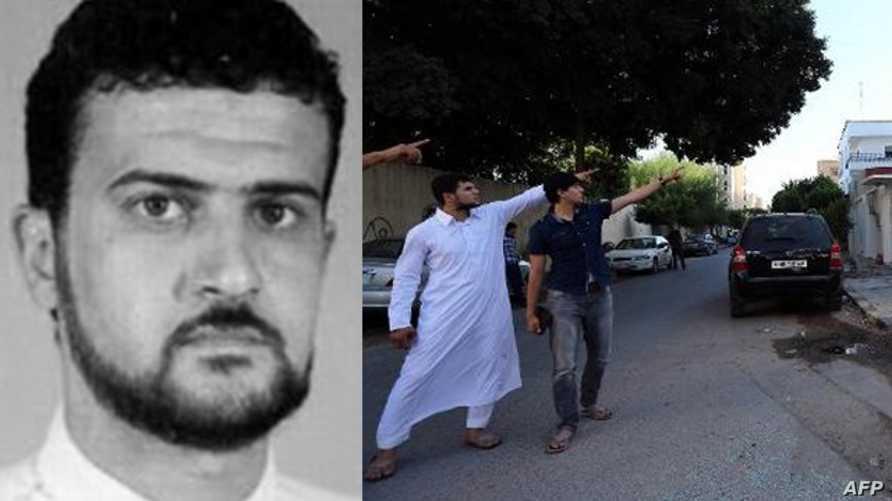 نجلا أبو أنس الليبي يشيران إلى موقع اختطاف والدهما في طرابلس في 6 أكتوبر/ تشرين الأول 2013