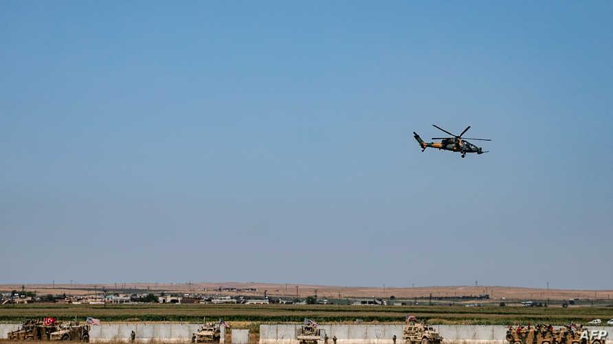 مقاتلة ومعدات تعسكرية تركية فوق أراض سورية