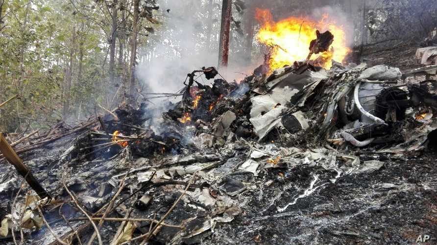 صورة لموقع سقوط الطائرة