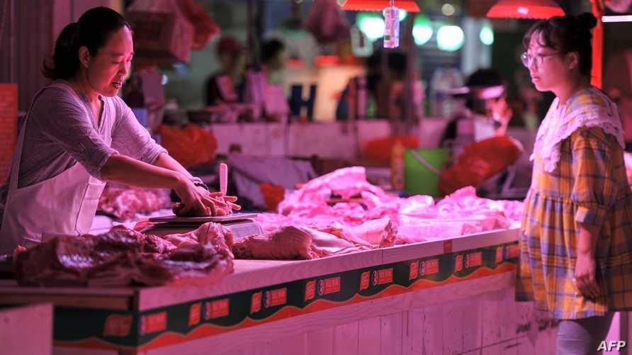 ارتفعت أسعار لحم الخنزير الأكثر استخداما في الأطباق الصينية، بنسبة 46.7 في المئة على عام واحد
