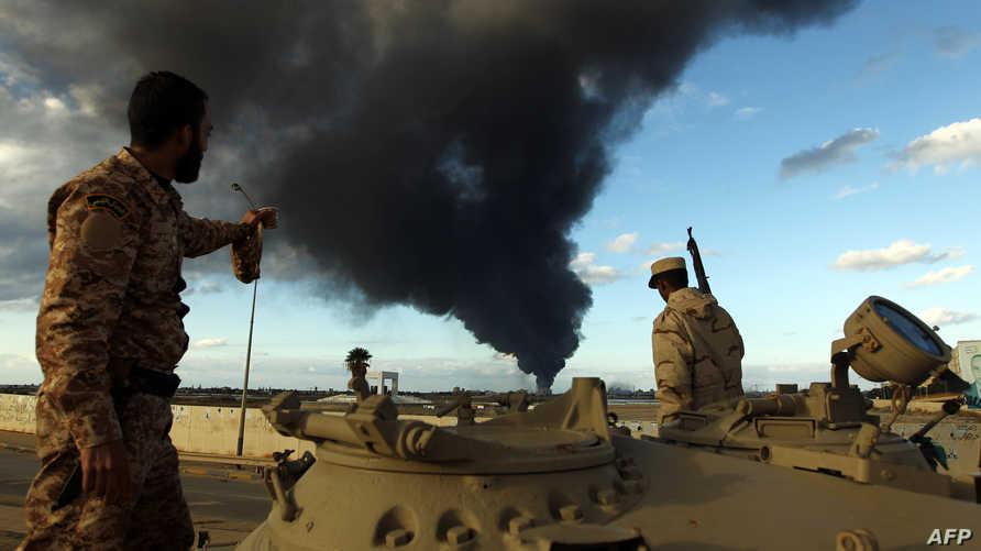مخلفات اشتباكات سابقة في ليبيا