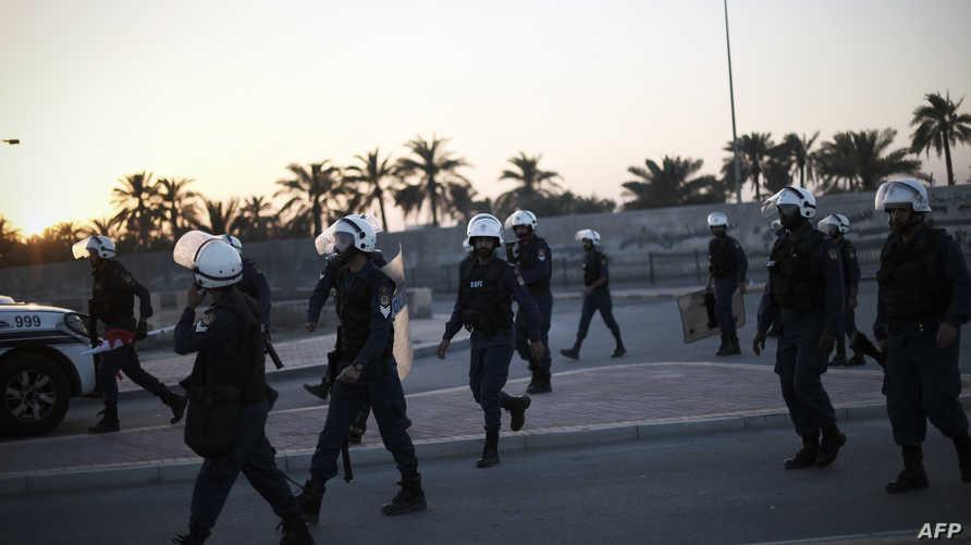 عناصر من الشرطة البحرينية في المنامة- أرشيف