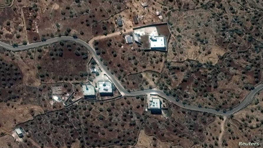 """صورة التقطت بالقمر الصناعي لمقر الإقامة المعلن لزعيم """"داعش""""، طبقا للمصادر، بالقرب من قرية باريشا في سوريا التقطت يوم 28 سبتمبر 2019 في صورة نشرتها ماكس تكنولوجيز يوم الأحد"""