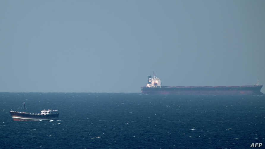 ناقلة نفط في منطقة الخليج