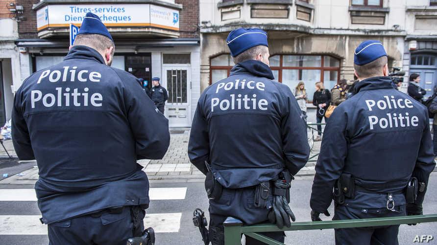 عناصر من الشرطة البلجيكية