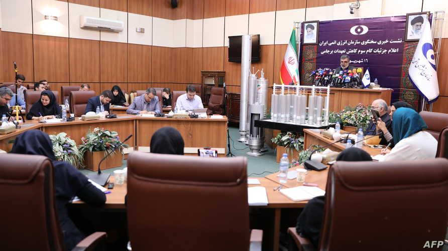 مؤتمر صحفي للناطق باسم منظمة الطاقة الذرية الإيرانية بهروز كمال وندي
