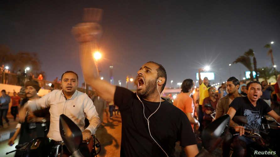 جانب من تظاهرات ضد السيسي في مصر