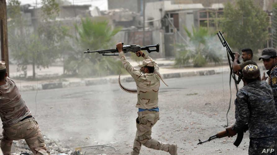 قوات عراقية داخل مدينة الفلوجة