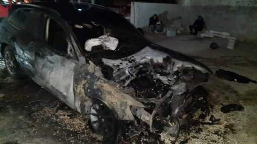 إحراق سيارة في الضفة الغربية