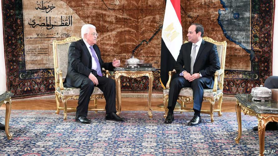 الرئيس المصري عبد الفتاح السيسي يستقبل رئيس السلطة الفلسطينية محمود عباس السبت