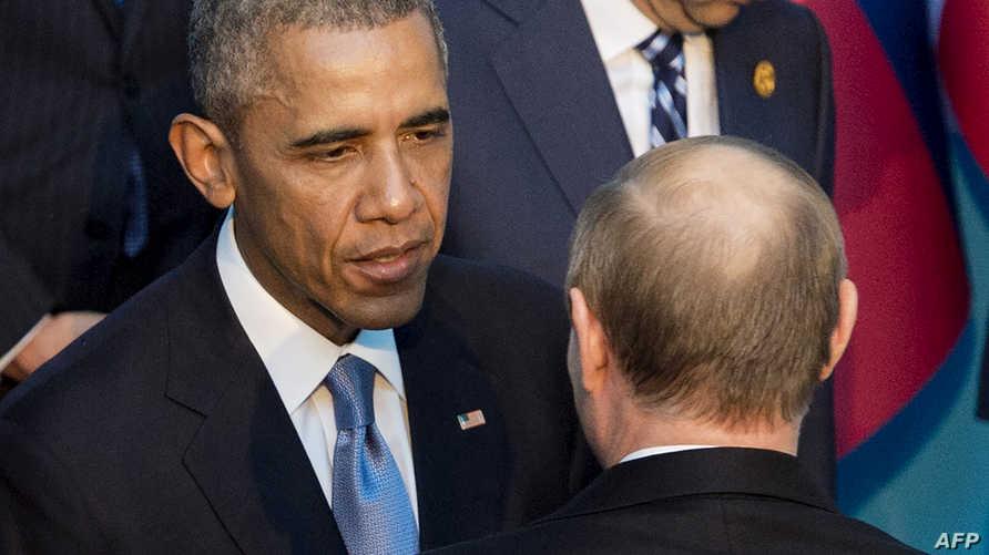 أوباما يتحدث إلى بوتين على هامش قمة الـ 20