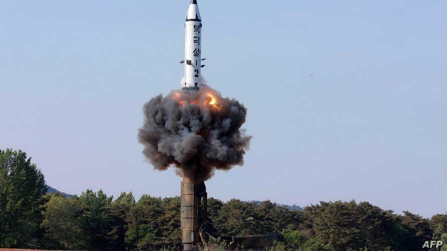 تجربة صاروخية كورية شمالية سابقة