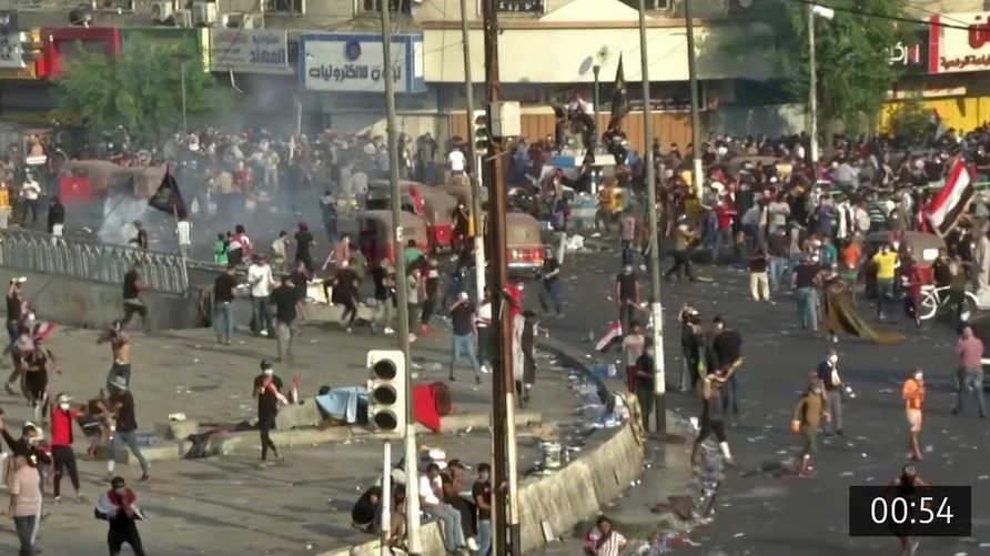 استمرار زخم المظاهرات في العراق وسط إصرار للسلطات على الحل الأمني في التعامل معها