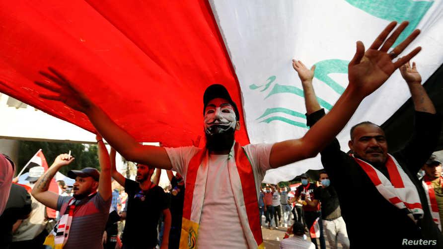 جانب من تظاهرات العراق، أرشيف