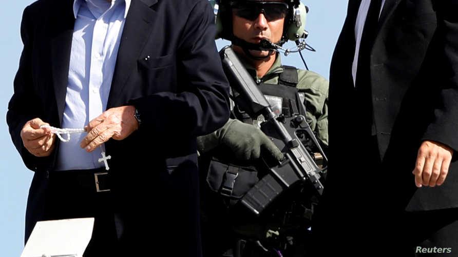 الرئيس البرازيلي السابق لويس إيناسيو لولا دا سيلفا يصل إلى السجن في 2 مارس 2019 بعد حضوره جنازة حفيده
