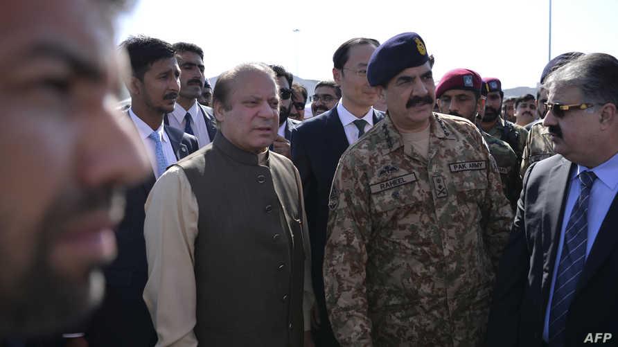 رئيس الوزراء الباكستاني نواز شريف والجنرال رحيل شريف