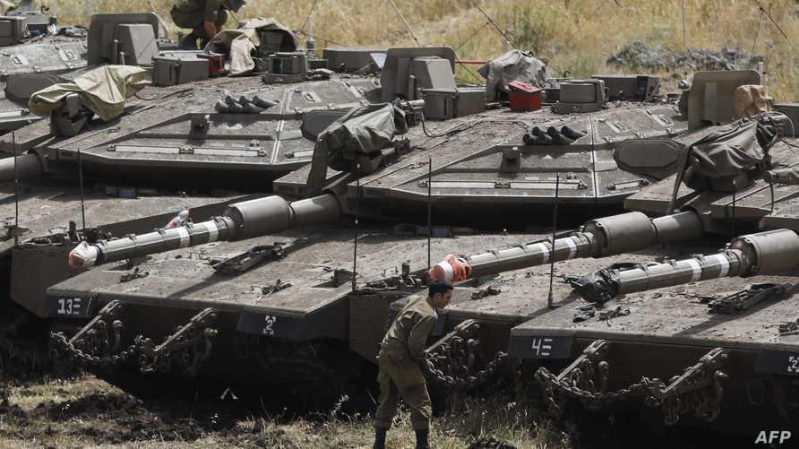 نشرت إسرائيل دبابات ميركافا عند الحدود مع سورية