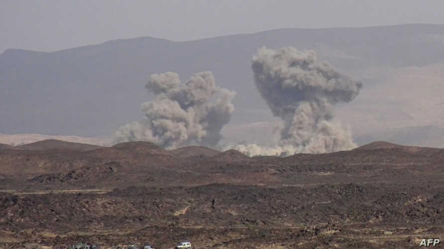 قصف استهدف مواقع للحوثيين في اليمن