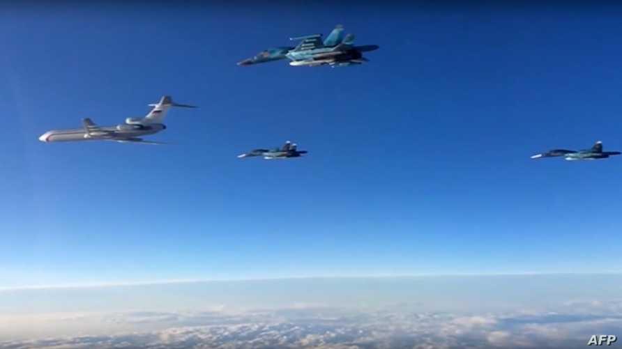 مقاتلات روسية فوق سورية - أرشيف