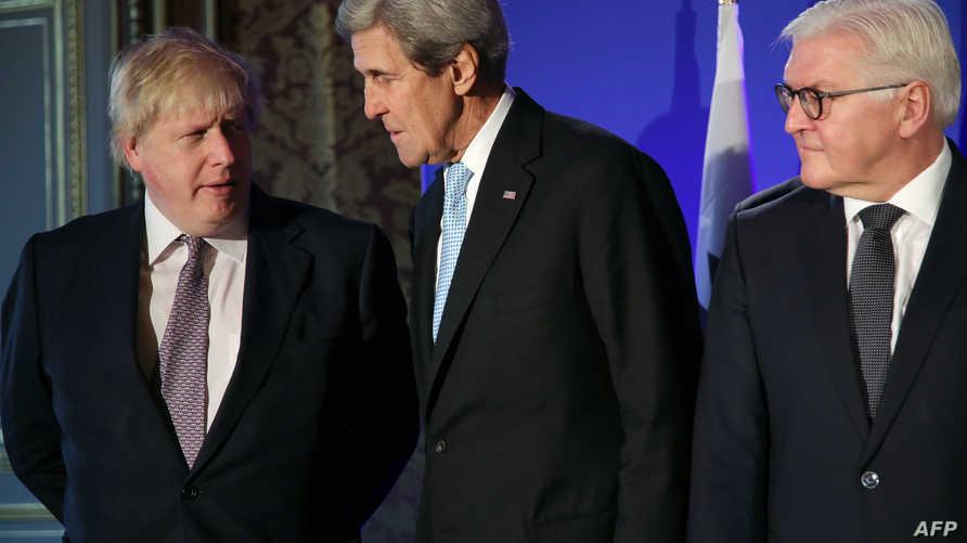 جانب من المشاركين في اجتماع باريس حول حلب