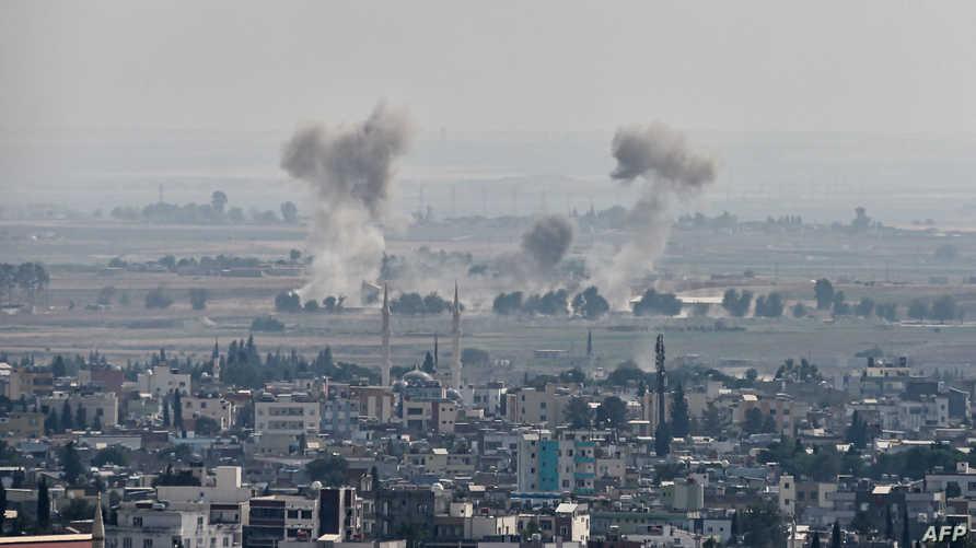 قصف تركي يستهدف بلدة رأس العين السورية