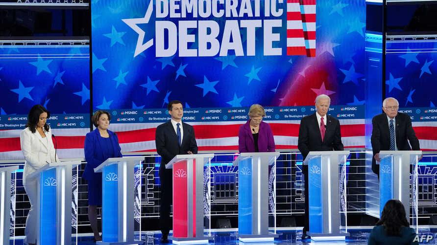 الديموقراطيون موحدون ضد ترامب ومنقسمون في قضايا أخرى