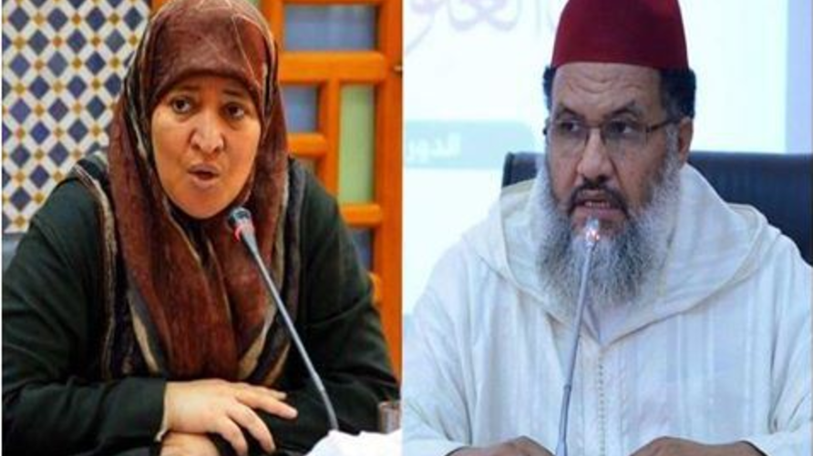 عضوا حركة التوحيد والإصلاح عمر بنحماد وفاطمة النجار
