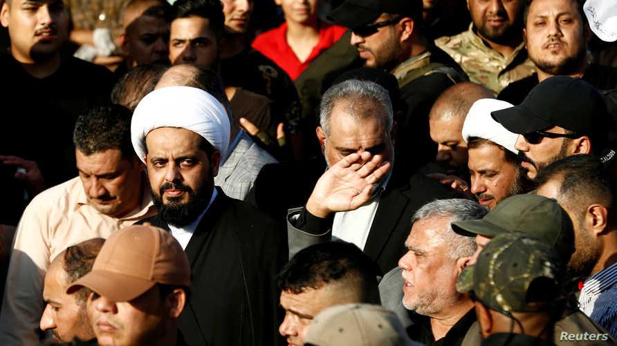الأمين العام لميليشيات عصائب أهل الحق، قيس الخزعلي، يهدد قناة الحرة عبر تخوينها