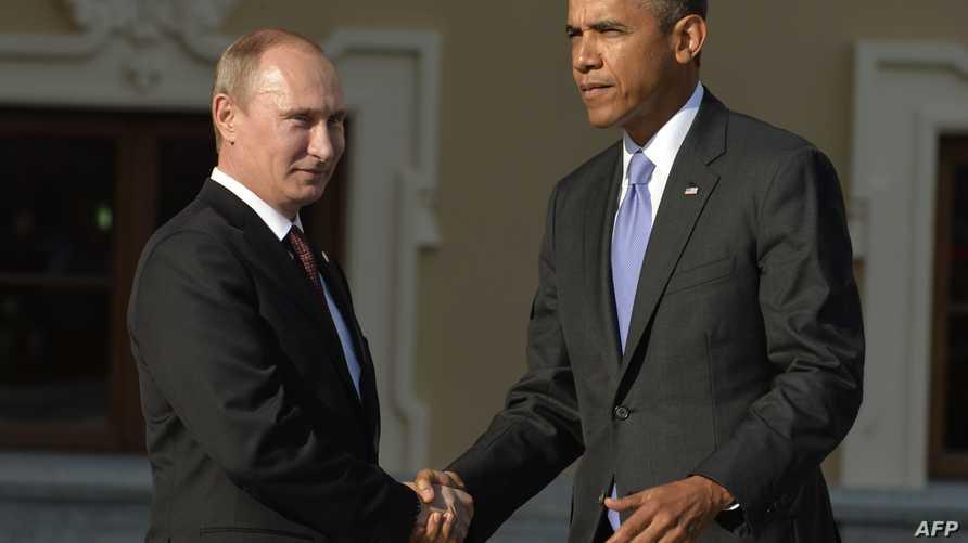 الرئيس الأميركي باراك أوباما ونظيره الروسي فلادمير بوتين