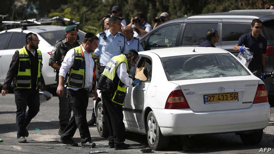 موقع الهجوم الذي نفذه فلسطيني في القدس