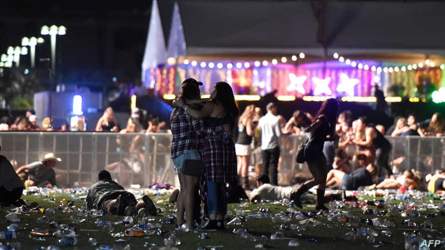 موقع حادث إطلاق النار في لاس فيغاس ليل الأحد