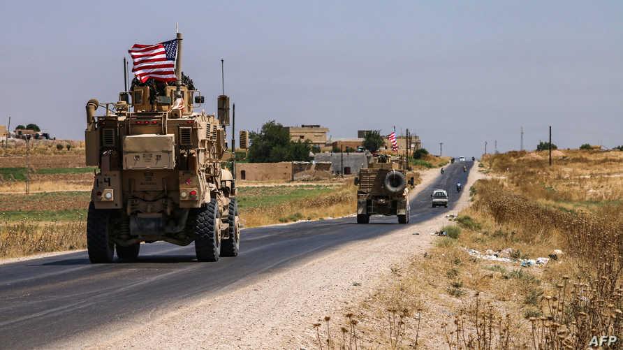مدرعة أميركية قرب الحدود السورية - التركية. أرشيفية