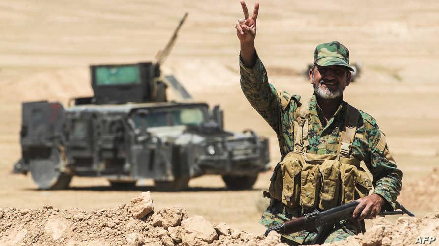 جندي من قوات الحشد الشعبي في مدينة الحضر