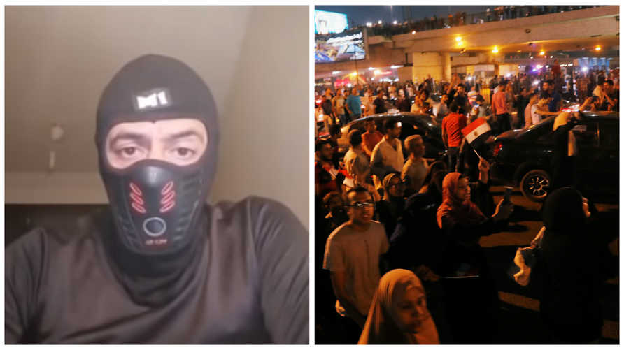 فيديو لشخص يدعي انه ضابط منشق يحرض الناس على النزول ضد الرئيس المصري عبد الفتاح السيسي