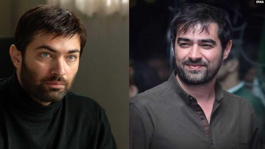 على اليمين الممثل الإيراني شهاب حسینی وعلى اليسار الممثل الإيراني بارسا بيروزفر