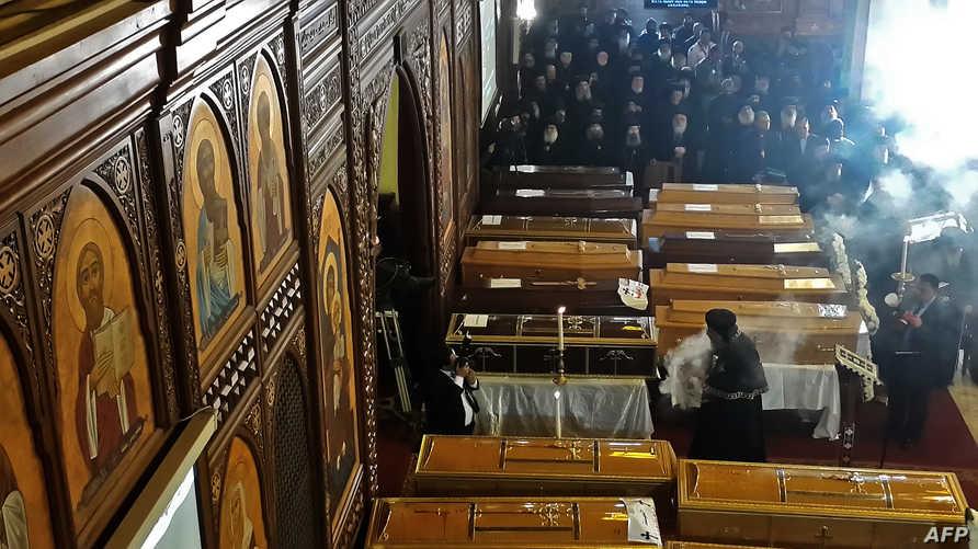 جنازة ضحايا تفجير الكنيسة البطرسية