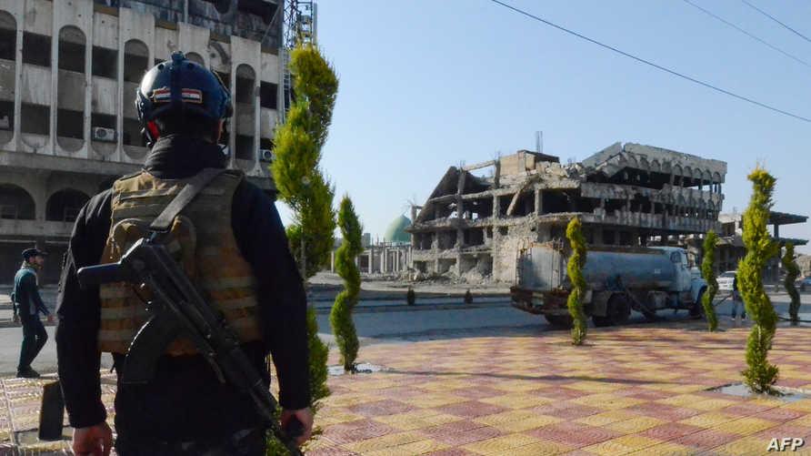 عنصر أمني عراقي في الموصل - أرشيف