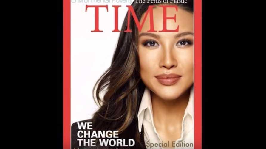 مينا تشانغ على غلاف تايم المفبرك