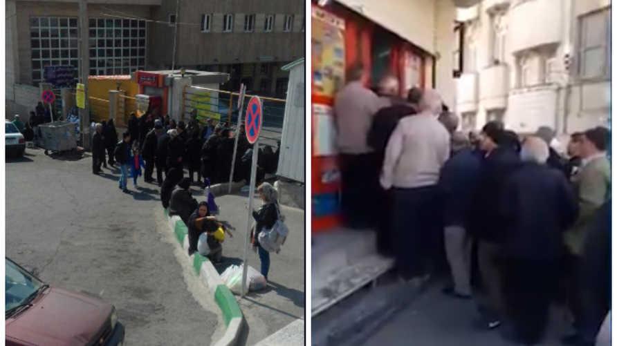 صفوف طويلة أمام المتاجر الإيرانية