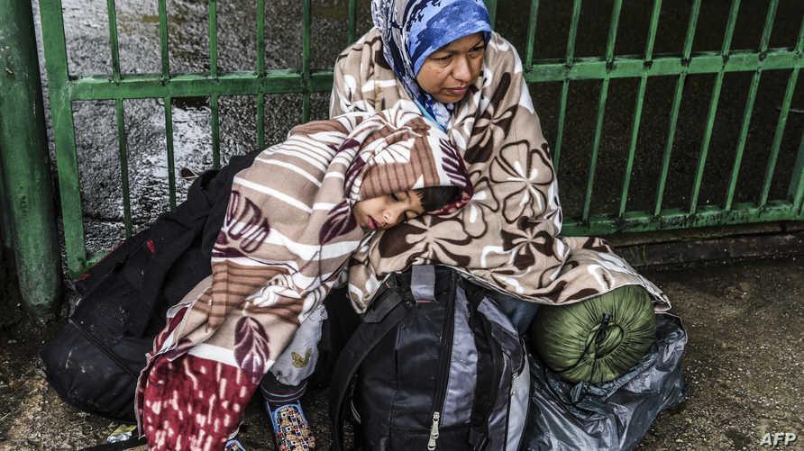 لاجئة سورية جنوب صربيا (أرشيف)