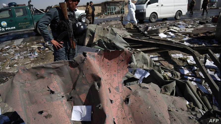 مخلفات الهجوم على فندق نورث غيت في كابل