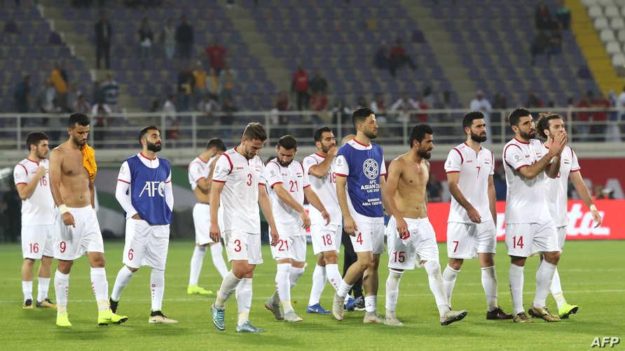 لاعبو منتخب سوريا بعد الخسارة أمام أستراليا