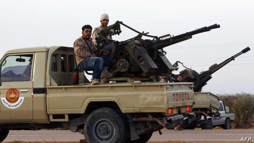 عناصر من ميليشيا فجر ليبيا -أرشيف