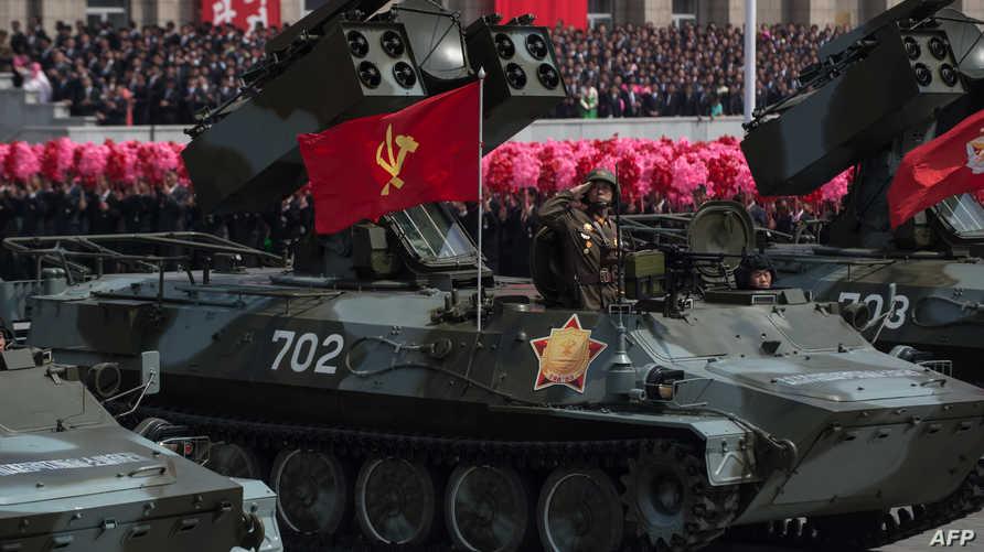 مشهد لاستعراض عسكري في كوريا الشمالية