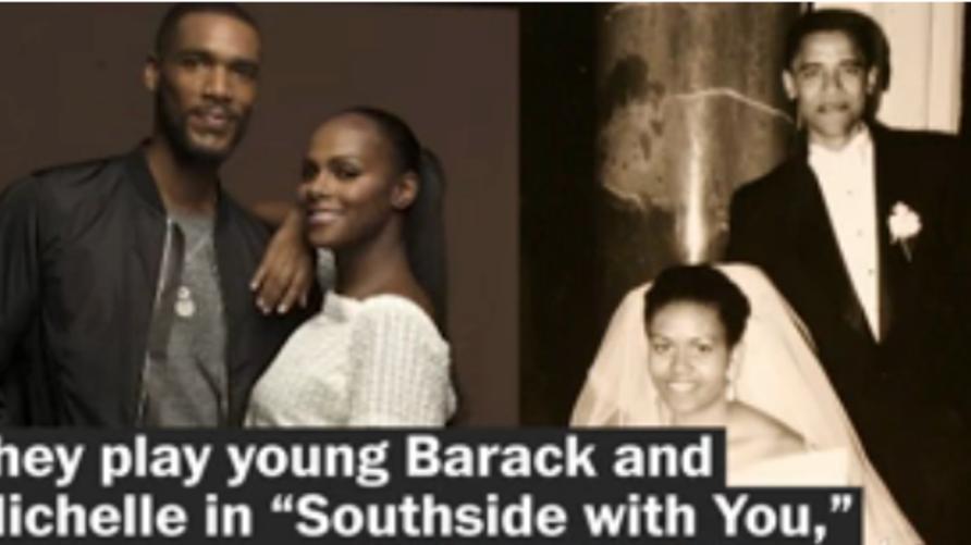الرئيس باراك أوباما وزوجته وبطلتا الفيلم