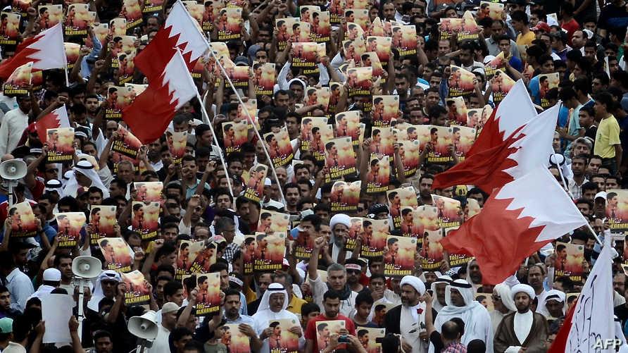 جانب من تظاهرة للمعارضة الشيعية في البحرين ، أرشيف