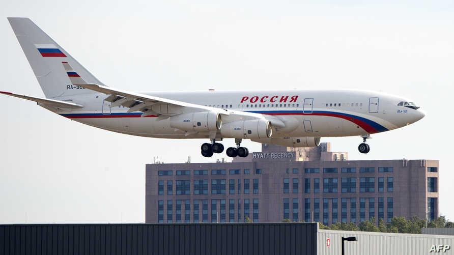 الطائرة الروسية التي تقل الدبلوماسيين