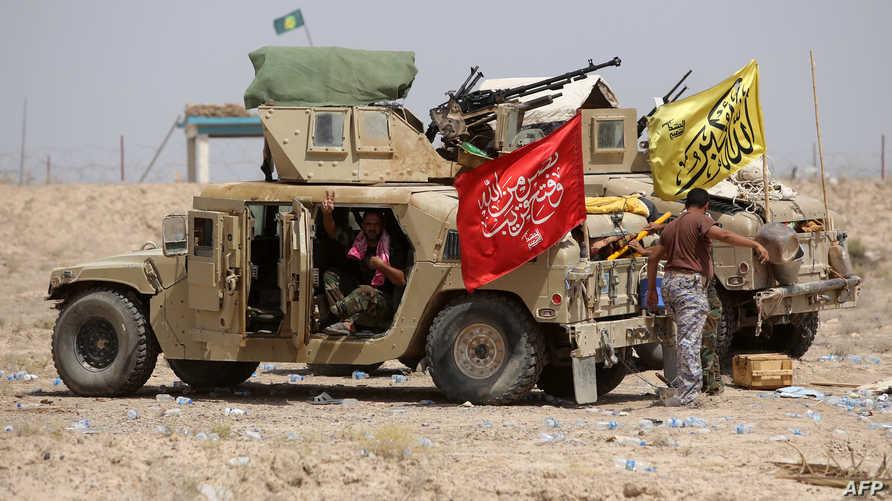 عناصر في قوات الحشد الشعبي المشاركة في العمليات العسكرية ضد داعش- أرشيف