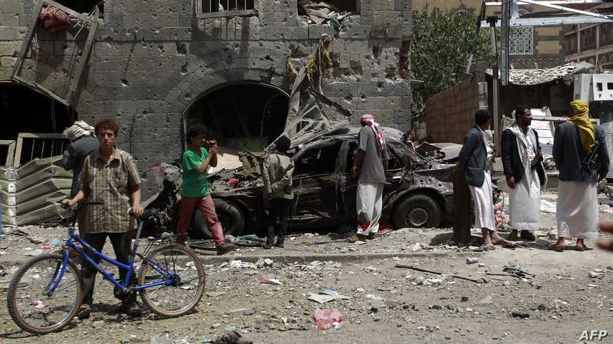 مخلفات غارة جوية للتحالف على صنعاء