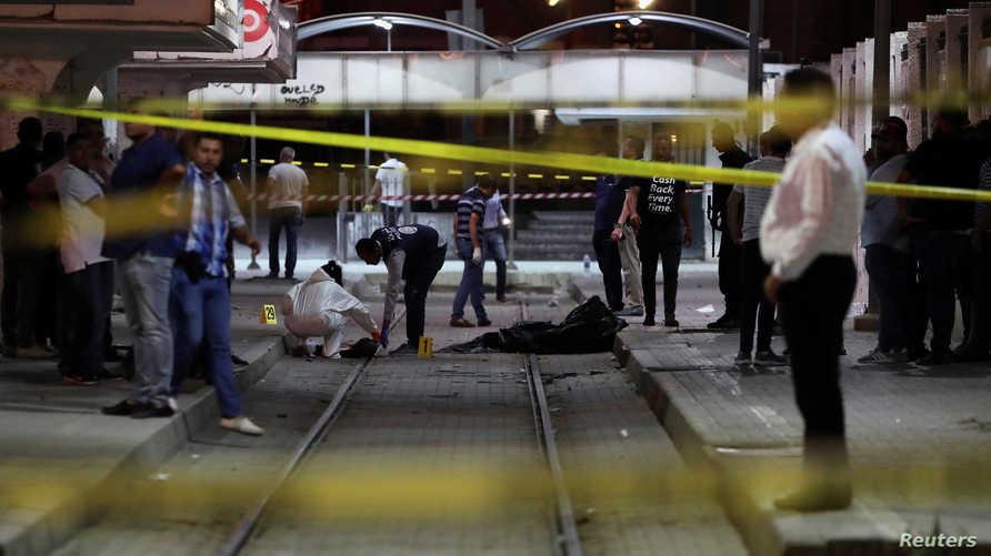 الموقع الذي فجر فيه الانتحاري نفسه في حي الانطلاقة بالعاصمة التونسية